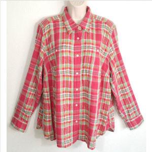 LAUREN RALPH LAUREN Women Button Down Shirt 1610E1